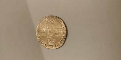 1745 king shilling coin
