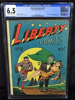 Liberty Comics 10 (CGC 6.5) Hangman & Buddies
