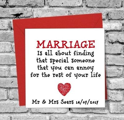 Funny Wedding Greeting Card Marriage To My Best Friend On