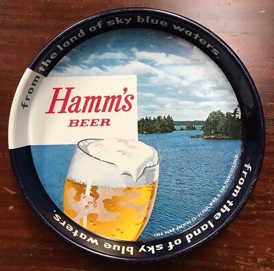 Hamm's Beer Vintage Serving Tray- from the land of sky blue waters