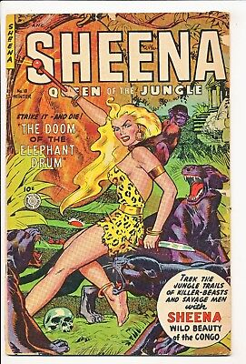 Sheena Queen of the Jungle #18 1952-53 Fiction House Used in POP Last Issue