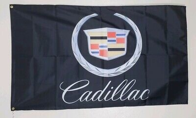 New Banner Flag for Cadillac Flag Wall Deco Garage 3x5ft White