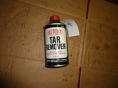 vintage du pont tar remover can empty can used very cool EMPTY black and white