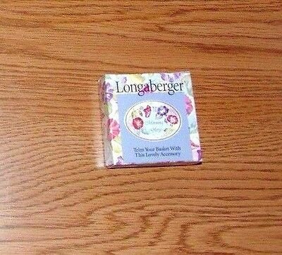 Longaberger MORNING GLORY Tie-On NEW IN  BOX  SPRING MAY SERIES FLOWER