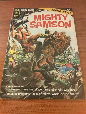 MIGHTY SAMSON # 1 - 1st Issue!  1964 Gold Key Silver Age Comic SEE PHOTOS!