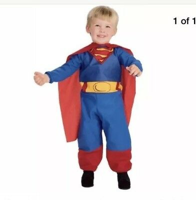 SUPERMAN v Batman Jumper Winter One-piece Costume Holiday party  Toddler 1-2 yr