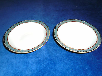 "2 x DENBY - LUXOR - RIMMED - SOUP/DESSERT/CEREAL BOWLS - 7"" - good condition"
