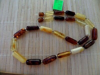 Natural Honey Egg Yolk Cognac Baltic Multicolored Amber stones beads Necklace