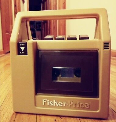 Vintage1980  FISHER PRICE Cassette Recorder/Player--Great Fun!-Works Great! 826