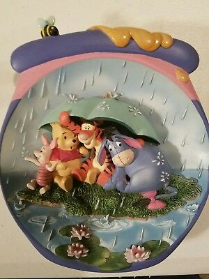 """Pooh's Hunnypot Adventures """"It's Just a Small Piece of Weather"""" Plate"""