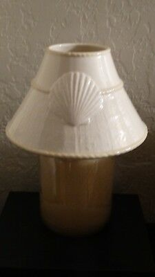 Yankee Candle Seashell Ceramic Candle Shade Fits Large Medium Jars NEW