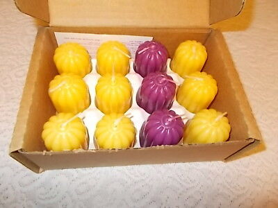 Home Interiors Gifts HOMCO 12 Votive Candles NIB Yellow & Purple