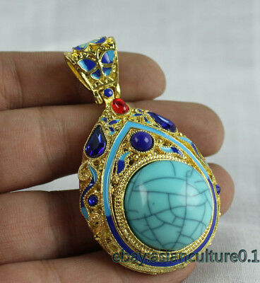 China Collection exquisite handmade cloisonne pendant Necklace accessories k23