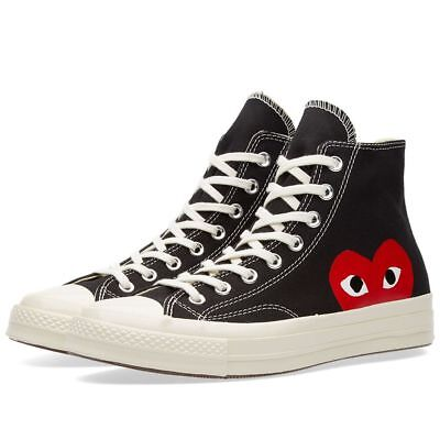 Comme Des Garcons PLAY X Converse Chuck Taylor All Star 70 Black High ALL SIZES