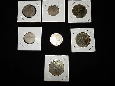 7 vintage old antique russian ussr soviet union coins