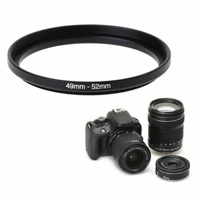 49mm To 52mm Step-Up Metal Lens Adapter Filter Ring Camera Tool Accessories