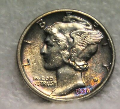 1936D mercury dime some toning