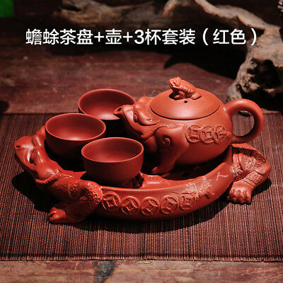 China YixXing Ceramic Three-legged toad ceramic tea set Kung fu tea teapot