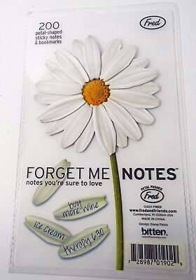 Forget Me Notes Fred & Friends 200 Petal Shaped Sticky Notes & Boookmarks