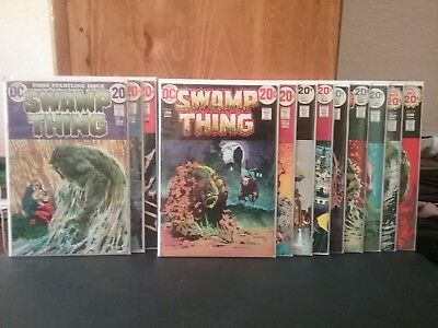 Swamp Thing #1 - 12 Lot Bronze Age (VG-VF) 1st App. of Batman and Batman Cover