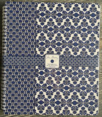 "Vera Bradley 9.5"" x 11"" Notebook with Pocket Cobalt Tile, 3 Subject, PACKAGED"