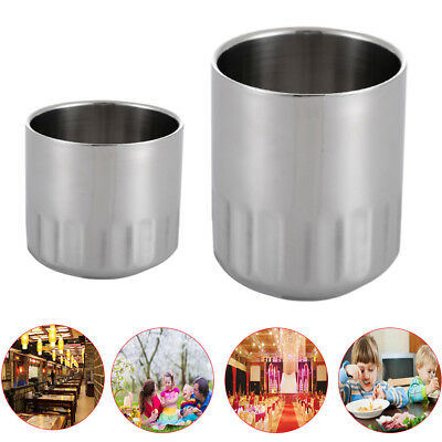 Stainless Steel Barrel Camping 2x Wall Insulated Beer Mug Large Cup Tea Coffee