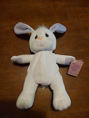 New RARE Precious Moments Tender Tails White Bunny Purple Paws Plush 1997 Enesco