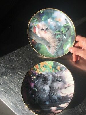 Nancy Matthews Franklin Mint Cat Plates Numbered Limited Edition Set Lot Collect