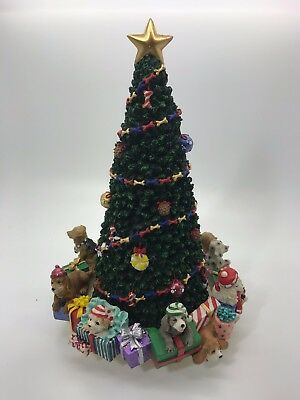 "San Francisco Music Box Company Rotating Tree With Dogs - ""Deck the Halls"" Tune"