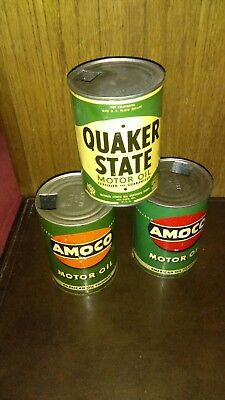 Vintage QuakerState/Amoco oil can lot
