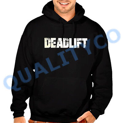 Deadlift Stamp Red Raglan Hoodie sweater bodybuilding muscle workout fitness gym