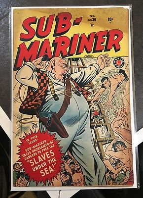 SUB MARINER ~ COMIC BOOK ~ # 30 SCARCE MARVEL / TIMELY 1940s