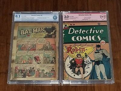 Detective Comics #27 and #38 Vol 1 CBCS 0.1 and 2.0 1st App of Batman and Robin