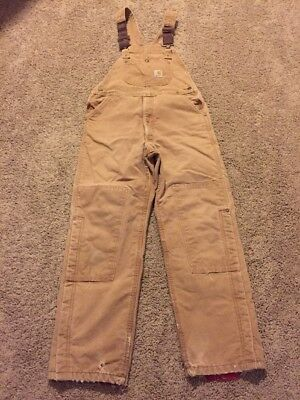 Youth Carhartt Double Front Bib Overalls Size XL