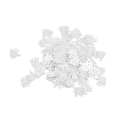 Wholesale 50Pcs Alloy Hand Palm Design Charm Pendant DIY Bracelet Jewelry Making