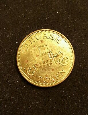 Vintage CAR WASH TOKEN w. MODEL A Ford vehicle COIN