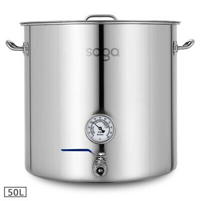 SOGA Stainless Steel Professional Bear Brewery Pot With Lid Bear Tap 50L