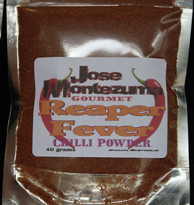 Gourmet Reaper Fever Chilli Powder with Carolina Reaper 40 gram chili chillies