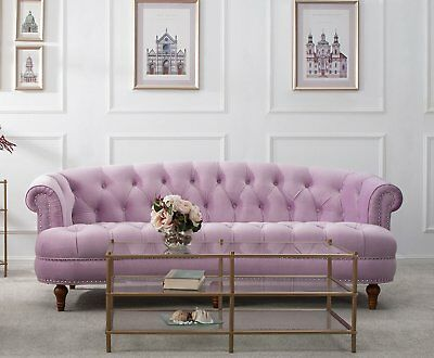 Excellent Velvet Modern Mid Century Chesterfield Sofa Couch Tufted Pabps2019 Chair Design Images Pabps2019Com