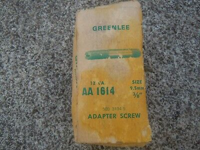 "Old NOS box of 10 Greenlee 3/8"" AA 1614 Adapter Screws"