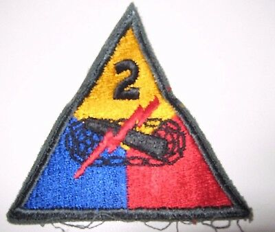 Original WWII Used U.S. Army 2nd Armored Tank Division Wool  PATCH