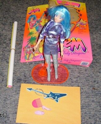 JEM Doll Aja Of The Holograms 1985 Hasbro opened 4201 / 4005 incomplete