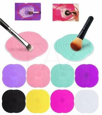 Silicone Makeup Brush Cleaner Cleaning Cosmetic Scrubber Board