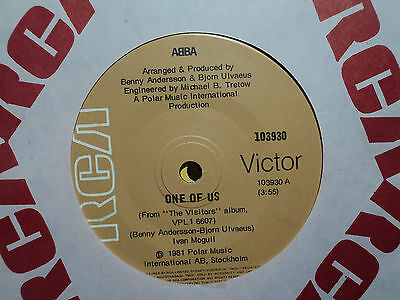 "ABBA ""One Of Us"" 1981 RCA Oz 7"" 45rpm"