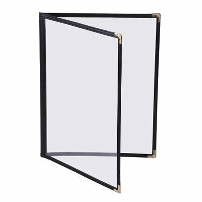 "MegaBrand 30pcs 8-1/2""x14"" Clear Restaurant Menu Cover Folder Double"