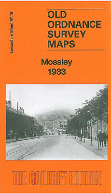 Old Ordnance Survey Map Mossley 1933 Micklehurst Brook Bottom Roughtown