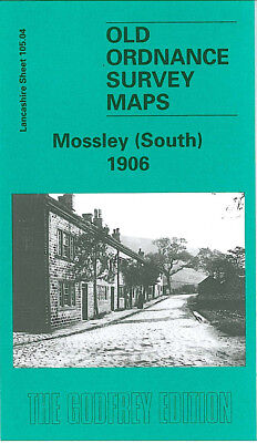 Old Ordnance Survey Map Mossley South 1906 Heyrod Carrbrook Scout Mill Hydegreen