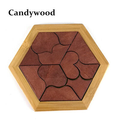 Wooden Tangram Puzzle Brain Game Toys Wood Kids Jigsaw Teaser Memory Enhancer