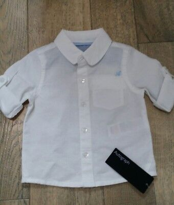 *brand New M&s(Autograph) Baby Boys Aged 0-3 Months White Shirt*