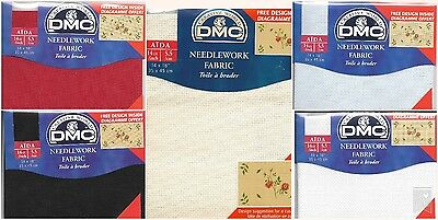 "DMC Pre Packed  14 count Aida - 14 x 18"" various clolours"